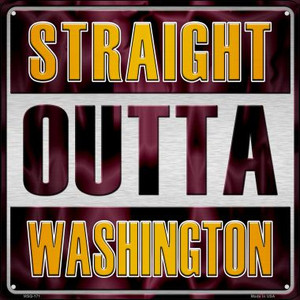 Straight Outta Washington Wholesale Novelty Mini Metal Square MSQ-171