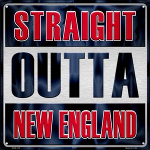 Straight Outta New England Wholesale Novelty Mini Metal Square MSQ-176
