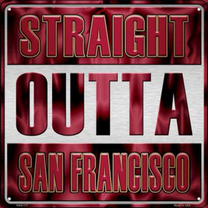 Straight Outta San Francisco Wholesale Novelty Mini Metal Square MSQ-177