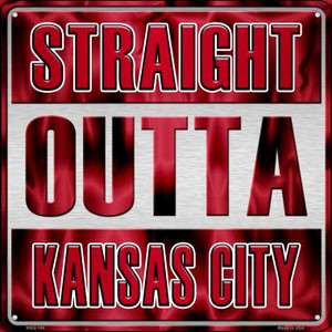 Straight Outta Kansas City Wholesale Novelty Mini Metal Square MSQ-184