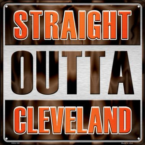 Straight Outta Cleveland Wholesale Novelty Mini Metal Square MSQ-185