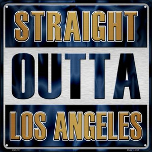 Straight Outta Los Angeles Wholesale Novelty Mini Metal Square MSQ-187
