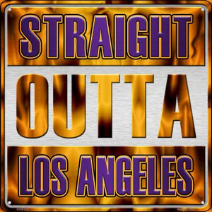 Straight Outta Los Angeles Wholesale Novelty Mini Metal Square MSQ-234