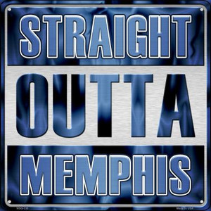 Straight Outta Memphis Wholesale Novelty Mini Metal Square MSQ-235