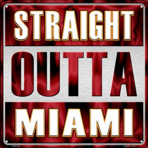 Straight Outta Miami Wholesale Novelty Mini Metal Square MSQ-236