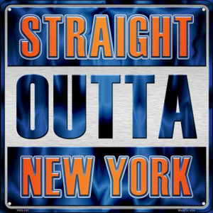 Straight Outta New York Wholesale Novelty Mini Metal Square MSQ-240