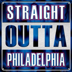 Straight Outta Philadelphia Wholesale Novelty Mini Metal Square MSQ-243