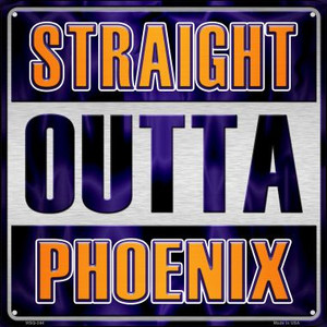 Straight Outta Phoenix Wholesale Novelty Mini Metal Square MSQ-244