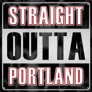Straight Outta Portland Wholesale Novelty Mini Metal Square MSQ-245