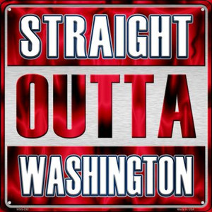 Straight Outta Washington Wholesale Novelty Mini Metal Square MSQ-250