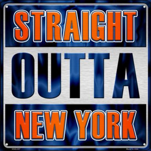 Straight Outta New York Wholesale Novelty Mini Metal Square MSQ-257