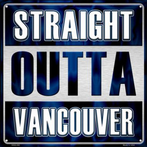 Straight Outta Vancouver Wholesale Novelty Mini Metal Square MSQ-280