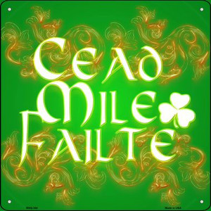 Cead Mile Failte Wholesale Novelty Mini Metal Square MSQ-304