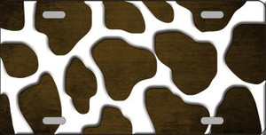 Brown White Giraffe Oil Rubbed Wholesale Metal Novelty License Plate