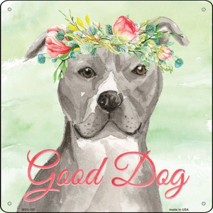 Staffordshire Terrier Good Dog Wholesale Novelty Mini Metal Square MSQ-369