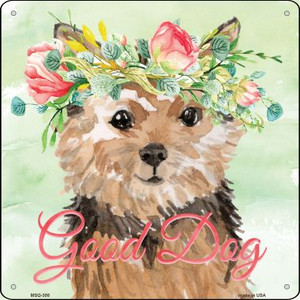 Norfolk Terrier Good Dog Wholesale Novelty Mini Metal Square MSQ-398