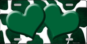 Green White Hearts Giraffe Oil Rubbed Wholesale Metal Novelty License Plate