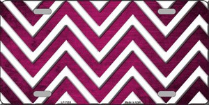 Pink White Chevron Oil Rubbed Wholesale Metal Novelty License Plate