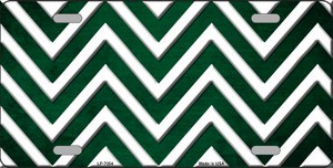 Green White Chevron Oil Rubbed Wholesale Metal Novelty License Plate