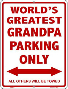 Worlds Greatest Grandpa Wholesale Novelty Mini Metal Parking Sign PM-018