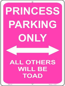 Princess Parking Only Wholesale Novelty Mini Metal Parking Sign PM-029