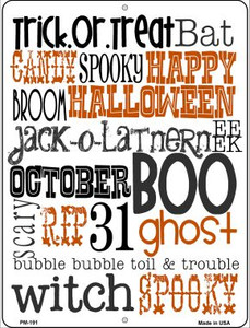Halloween Sign Wholesale Novelty Mini Metal Parking Sign PM-191