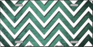 Mint White Chevron Oil Rubbed Wholesale Metal Novelty License Plate