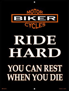 Ride Hard Wholesale Novelty Mini Metal Parking Sign PM-2044