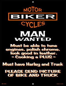Man Wanted Wholesale Novelty Mini Metal Parking Sign PM-2046
