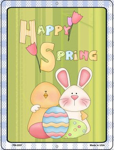 Happy Spring Wholesale Novelty Mini Metal Parking Sign PM-2097