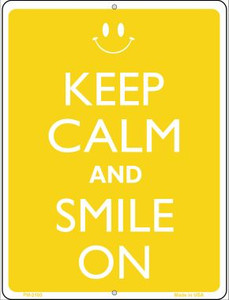 Keep Calm And Smile On Wholesale Novelty Mini Metal Parking Sign PM-2105