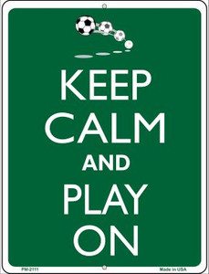 Keep Calm And Play On Wholesale Novelty Mini Metal Parking Sign PM-2111