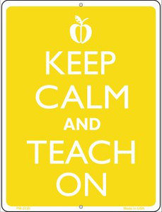 Keep Calm And Teach On Wholesale Novelty Mini Metal Parking Sign PM-2135