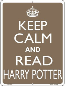 Keep Calm And Read Harry Potter Wholesale Novelty Mini Metal Parking Sign PM-2195