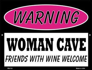 Friends With Wine Welcome Wholesale Novelty Mini Metal Parking Sign PM-751
