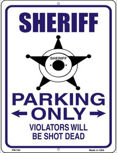 Sheriff Parking Only Wholesale Novelty Mini Metal Parking Sign PM-794