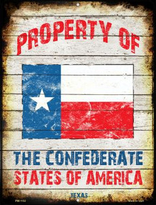 Property Of Texas Wholesale Novelty Mini Metal Parking Sign PM-1152