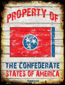 Property Of Tennessee Wholesale Novelty Mini Metal Parking Sign PM-1153