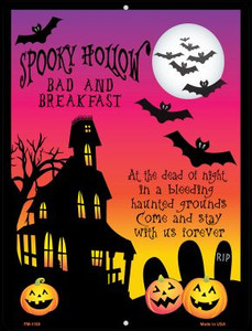 Spooky Hollow Wholesale Novelty Mini Metal Parking Sign PM-1169