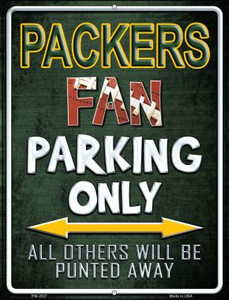 Packers Wholesale Novelty Mini Metal Parking Sign PM-2027