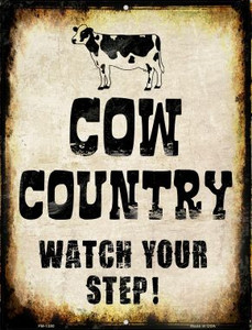 Cow Country Wholesale Novelty Mini Metal Parking Sign PM-1380