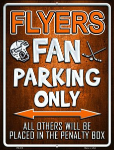Flyers Wholesale Novelty Mini Metal Parking Sign PM-319