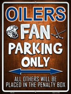 Oilers Wholesale Novelty Mini Metal Parking Sign PM-324