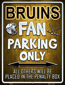 Bruins Wholesale Novelty Mini Metal Parking Sign PM-334