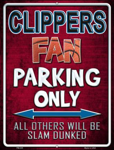 Clippers Wholesale Novelty Mini Metal Parking Sign PM-245