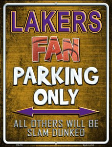 Lakers Wholesale Novelty Mini Metal Parking Sign PM-253