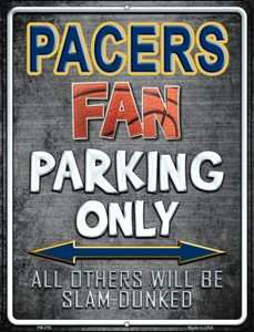 Pacers Wholesale Novelty Mini Metal Parking Sign PM-258