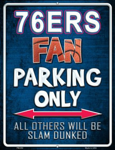 76ers Wholesale Novelty Mini Metal Parking Sign PM-262