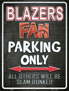Trail Blazers Wholesale Novelty Mini Metal Parking Sign PM-267