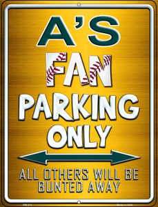 Athletics Wholesale Novelty Mini Metal Parking Sign PM-211